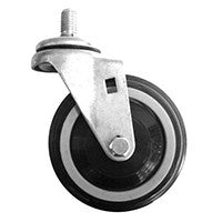 "4"" Poly-U Shopping Cart Swivel Caster Assembly"