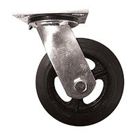 "6"" x 2"" Mold on Rubber Wheel Swivel Caster Assembly"