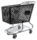 Black Plastic Shopping Cart With Lower Tray 12,000 cu. in.