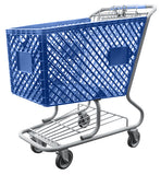 Blue Plastic Shopping Cart With Lower Tray 12,000 cu. in.