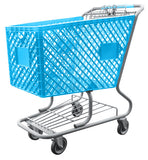 Light Blue Plastic Shopping Cart With Lower Tray 12,000 cu. in.