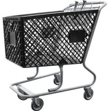 Black Plastic Shopping Cart Without Lower Tray