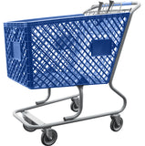 Blue Plastic Shopping Cart Without Lower Tray