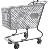 Light Gray Plastic Shopping Cart Without Lower Tray