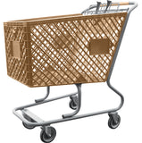 Tan Plastic Shopping Cart Without Lower Tray