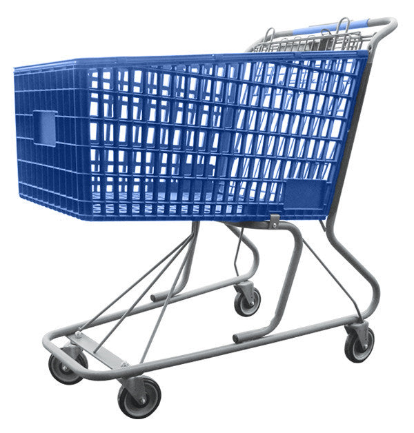 AMP-17AT Plastic Shopping Cart With Anti-Theft Lower Tray 17,000 cu. in.
