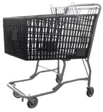 Black Plastic Shopping Cart With Vermaport Frame For Conveyors