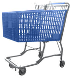Blue Plastic Shopping Cart With Vermaport Frame For Conveyors