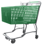 Green Plastic Shopping Cart With Vermaport Frame For Conveyors