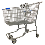 Metal Wire Shopping Cart With Vermaport Frame For Conveyor & Blue Handle, Seat, & Bumpers