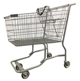 Metal Wire Shopping Cart With Vermaport Frame For Conveyor & Dark Gray Handle, Seat, & Bumpers