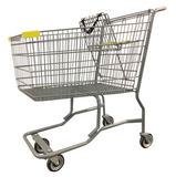 Metal Wire Shopping Cart With Vermaport Frame For Conveyor & Yellow Handle, Seat, & Bumpers