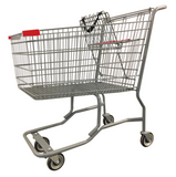 Metal Wire Shopping Cart With Vermaport Frame For Conveyor & Red Handle, Seat, & Bumpers