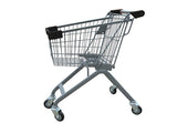 Kiddie Metal Wire Shopping Cart With Black Handle & Bumpers