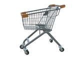 Kiddie Metal Wire Shopping Cart With Tan Handle & Bumpers