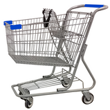 AMW-65 Metal Wire Shopping Cart 9,000 cu. in.