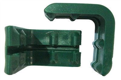 Set of 2 Front Corner Green Plastic Bumpers for Shopping Carts