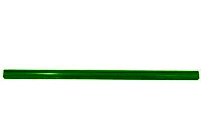 "Americana/Unarco Old Style 23"" long, 1"" round green plastic shopping cart handle with printing"