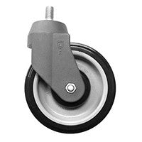 "5"" Poly-U Shopping Cart Swivel Caster"