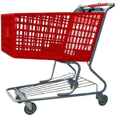 amp 17 plastic shopping cart with lower tray americana companies