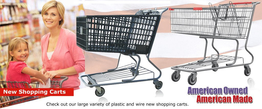 New Shopping Carts Plastic and Metal Wire