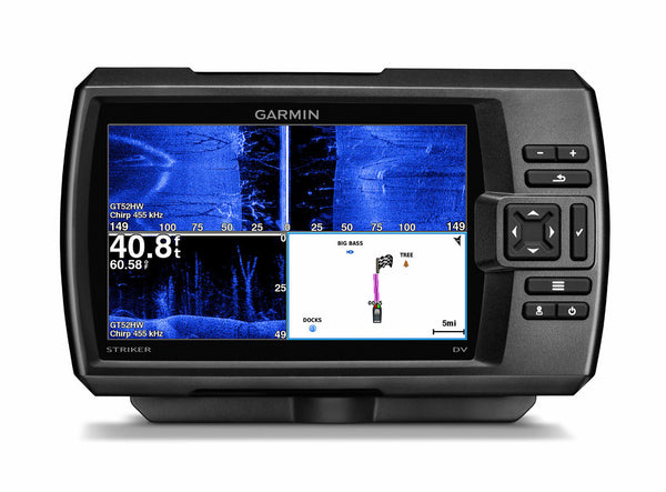 "Garmin STRIKER 7sv 7"" Sonar WW c/w GT52HW-TM (High Wide CHIRP 150-240 kHz/DownVü/SideVü) TM Txd"