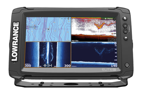 Lowrance Elite-9 Ti Fishfinder/Chartplotter with Mid/High/TotalScan Txd & C-MAP South Europe Card