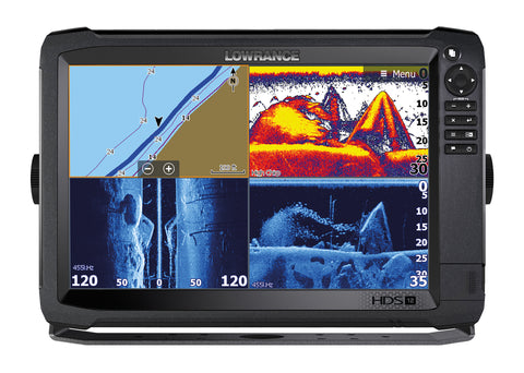 Lowrance HDS-12 Carbon Multifunction Display with HST-WSBL Skimmer Txd & StructureScan 3D Module/Txd Bundle
