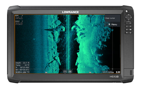Lowrance HDS-16 Carbon Multifunction Display with TotalScan™ Skimmer Transducer