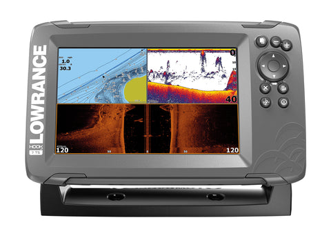 Lowrance HOOK2-7 Fishfinder/Chartplotter with TripleShot Txd