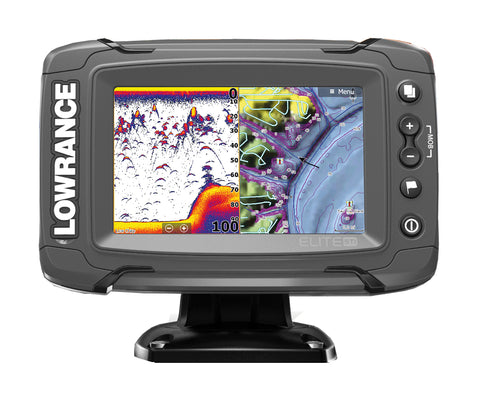 Lowrance Elite-5 Ti Fishfinder/Chartplotter with Mid/High/DownScan Txd