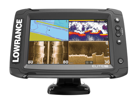 Lowrance Elite-7 Ti Fishfinder/Chartplotter with Mid/High/DownScan Txd
