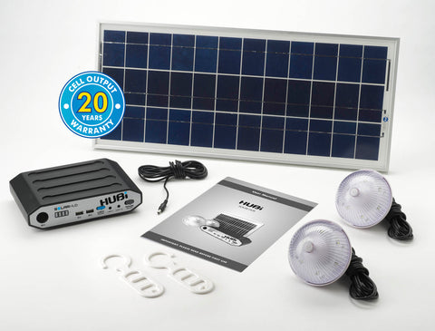Solar Technology HUBi 10K Solar Power Kit Including AC Adapter - Aquariuz