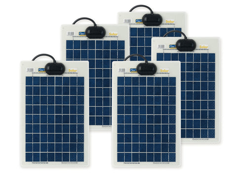 10w Flexi Solar x5 Panel Kit Basic