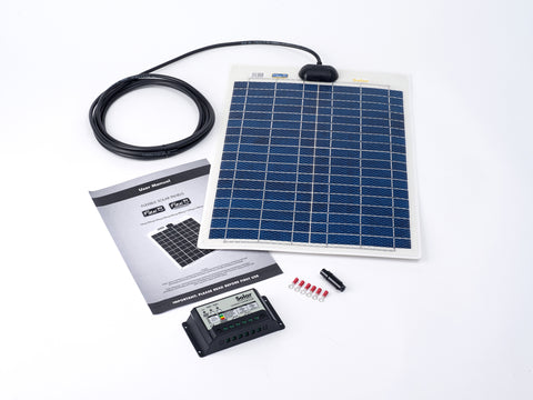 20w Flexi Solar Panel Kit + 10Ah Controller