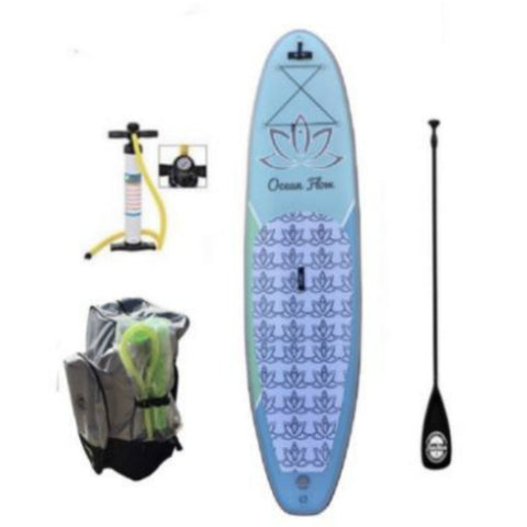 10'6 Ocean Flow Yoga Allrounder Inflatable Paddle Board - Aquariuz