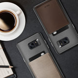 OBLIQ Galaxy Note 7 Case Flex Wallet Mud Gray