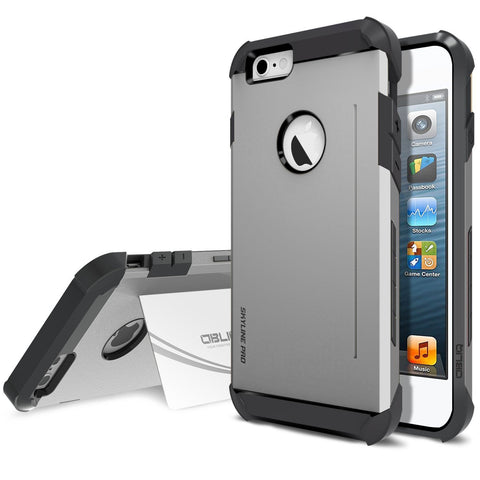 OBLIQ iPhone 6 Plus Case Skyline Pro Gun Metal