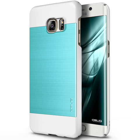 OBLIQ Galaxy S6 Edge Plus Case Slim Meta Aqua Blue and White