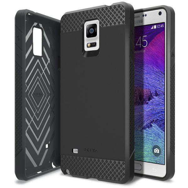 OBLIQ Galaxy Note 4 Case Flex Pro Black