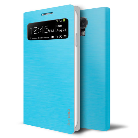 OBLIQ Galaxy S4 Flip Cover Brosse V Emerald Blue