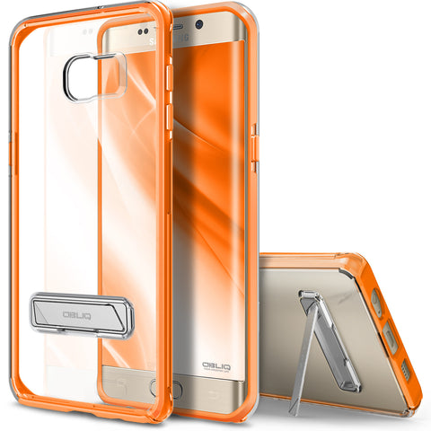 OBLIQ Galaxy S6 Edge Plus Case Naked Shield Orange
