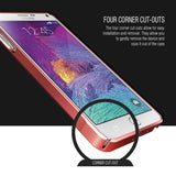 OBLIQ Galaxy Note 4 Case Slim Meta Metallic Red