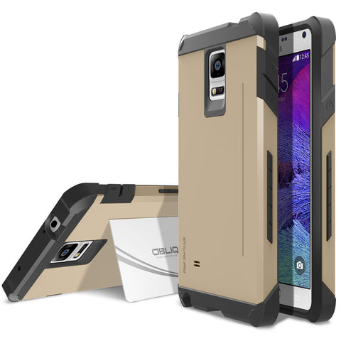 OBLIQ Galaxy Note 4 Case Skyline Pro Champagne Gold