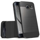 OBLIQ Galaxy S6 Case Slim Meta Titanium Black
