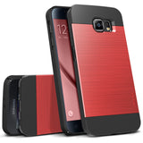 OBLIQ Galaxy S6 Case Slim Meta Metallic Red