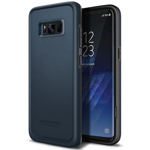 OBLIQ Galaxy S8 Case Skyline Advance Metal Navy