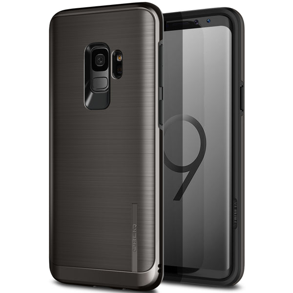 OBLIQ Galaxy S9 Case Slim Meta Titanium Black