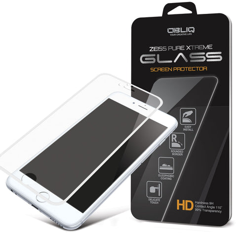 OBLIQ iPhone 6 Plus Screen Protector Full Cover Tempered Glass White
