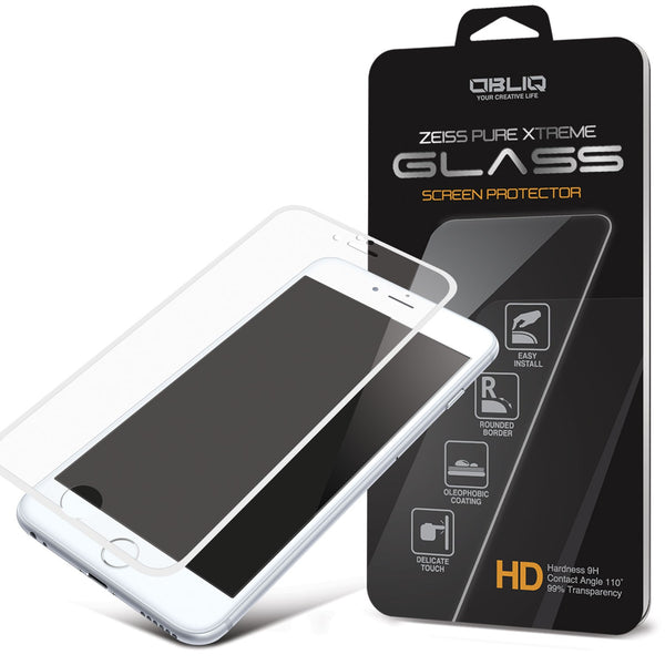 OBLIQ iPhone 6S Plus Screen Protector Full Cover Tempered Glass White